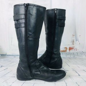 BORN Jordyn Leather Riding Knee-High Flat Boots 6